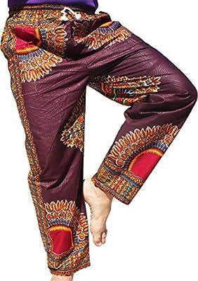 RaanPahMuang Brand Standard Straight Leg Pants African Dashiki Print Cotton