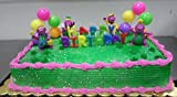 CakeSupplyShop CKB6Y -Barney Birthday Cake Decoration Party Favors Figurine Toys