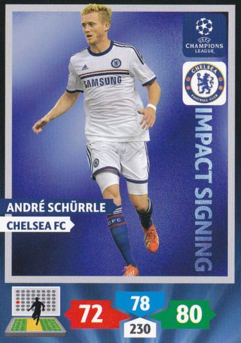 Champions League Adrenalyn XL 2013/2014 Andre Schurrle 13/14 Impact Signing