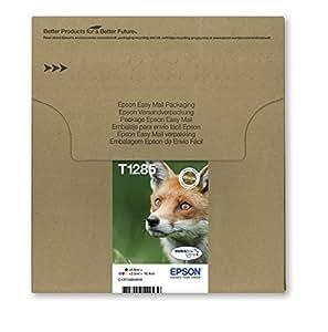 Epson T1285 Cartouche d'encre d'origine DURABrite Ultra Multipack Noir, Cyan, Magenta, Jaune [Emballage « Déballer sans s'énerver par Amazon »]