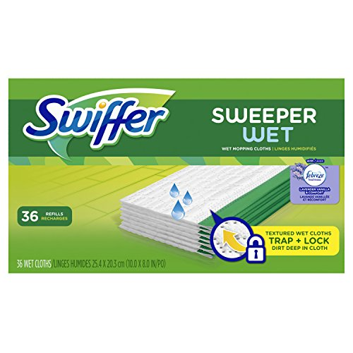Swiffer Sweeper Wet Mopping Pad Refills for Floor Mop with Febreze Lavender Vanilla & Comfort Scent 36 Count (Wet Mop Swiffer compare prices)