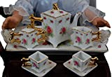"""Kitchen Dish Accessory for 18"""" American Girl� Doll Furniture, Pink Rose Fine China Tea Set & Box"""