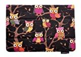 ThanksCase Dark Owls Case Cover for Amazon Kindle Fire HD 7 2nd Gen 2013 Release (will only fit All New Kindle Fire HD 7) Canvas Owls Case with Standing Feature with Elastic Hand Strap for Secure Grip of the Case with Your Go for New HD 7 2013.(Dark)