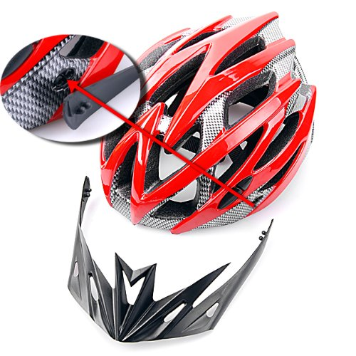 Brand New Cycling Bicycle Mountain Bike Adult Helmet Red Carbon Color Looks Eps Liner Foam Interior
