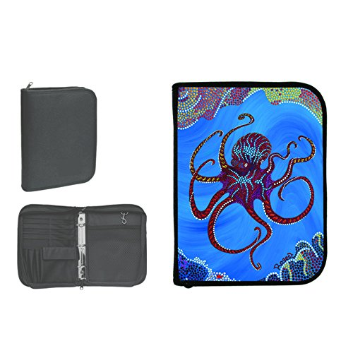 New Scuba Diving 3 Ring Zippered Log Book Binder with FREE Generic Log Insert ($12.95 Value) - Octopus (Rogest)