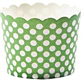 Simply Baked Paper Baking Cup, Small, Green with White Dot, 25-Pack