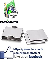 Parasnath Stainless Steel Square Coaster