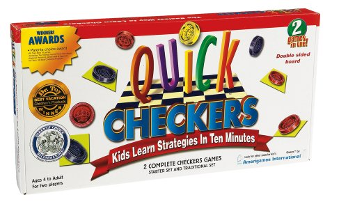 International Playthings iPlay Board Games-Quick Checkers - 1