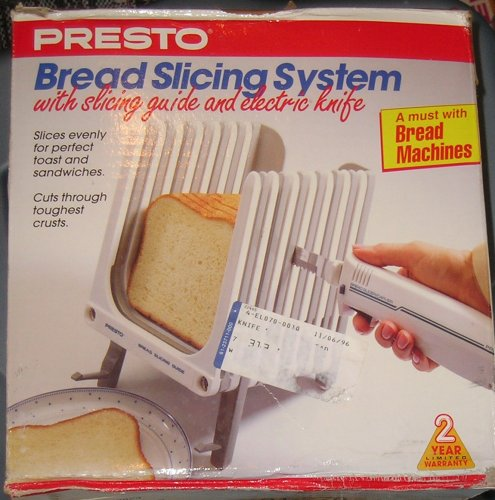 presto bread slicing system with electric knife new free. Black Bedroom Furniture Sets. Home Design Ideas