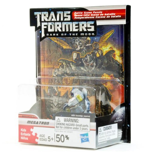 Transformers Dark of the Moon Battle Scene Puzzle with Megatron Figure - 1