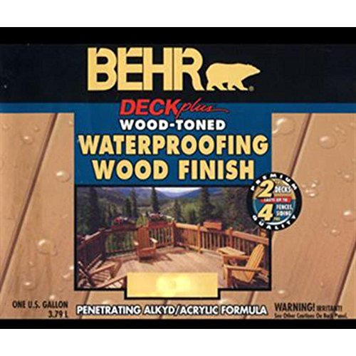 Exterior Deck Fence Siding Wood Waterproofing Redtone BEHR Stain 40201 Red, Tone (Decking Paint compare prices)