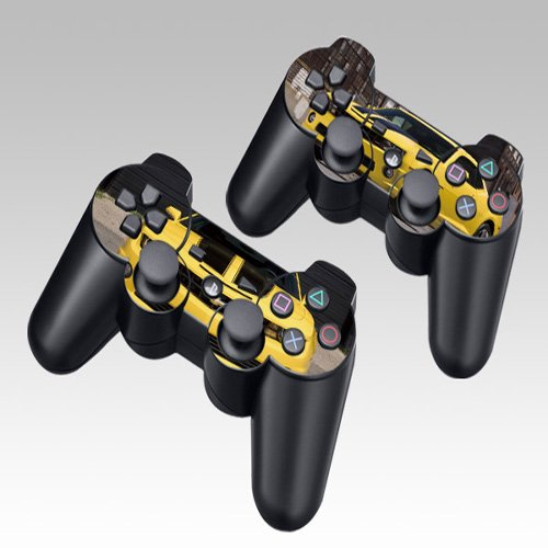 Yellow RAC Design Skin Decal Sticker for the PS3 Playstation 3 Controller 2pcs in 1