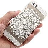 JIAXIUFEN Neue Modelle TPU Silikon Schutz Handy Hülle Case Tasche Etui Bumper für Apple iPhone 5 5S - Henna Million Spent Ethnic Tribal