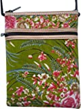 Travel neck wallet with floral pattern 12,5 x 16,5 cm (w x h); strap length: 116 cm