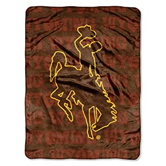 Buy NCAA Wyoming Cowboys 46-Inch-by-60-Inch Micro-Raschel Blanket, Grunge Design by Northwest