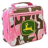 John Deere Pink Rectangular Lunch Box FTK254Z