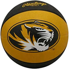 Buy NCAA Missouri Tigers Crossover Full Size Basketball by Rawlings by Rawlings