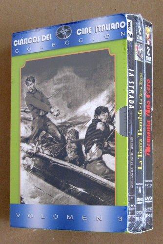 La Calle (La Strada) / La Tierra Tiembla (La Terra Trema) / Alemania Ano Cero (Germania Anno Zero) - Clasicos del Cine Italiano vol. 3, 3-dvd boxset [*Ntsc/region 1 & 4 Dvd. Import-latin America] Span