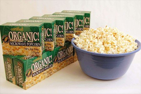 Certified Organic Gourmet Microwave Popcorn - 1 Case of 12 Boxes - 3 Packs Per Box - Pop Corn / Popping Korn