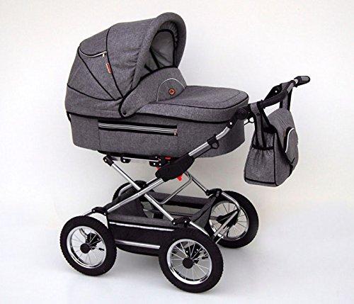 Kombikinderwagen-Kinderwagen-2in1-Buggy-Pram-Fanari-grey