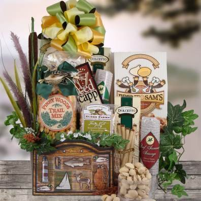 Hunters Delight Meat And Cheese Gift Basket For The Outdoorsman