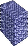 10 x Halbleinen Geschirrtuch Trockentuch 60x80 cm in Rot oder Blau Kariert Farbe Gruben/Blau Größe 50 x 100 cm