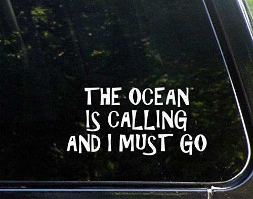 The-Ocean-Is-Calling-And-I-Must-Go-7-34-x-3-34-Vinyl-Die-Cut-Decal-Bumper-Sticker-For-Windows-Cars-Trucks-Laptops-Macbooks-Etc