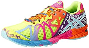 ASICS Women's Gel-Noosa Tri 9 Running Shoe,Flash Yellow/Turquoise/Berry,8 M US