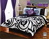 White Black Gray Comforter Duvet Sheets Bedding Set Queen 12 Pcs