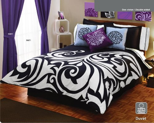 White Black Gray Comforter Duvet Sheets Bedding Set King
