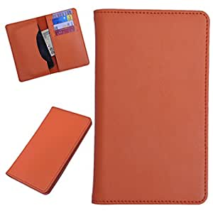 DCR Pu Leather case cover for Huawei Ascend P2 (orange)