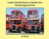 London Double Decker to Marble Arch - 24 pc Adult Large Piece Jigsaw Puzzle for People with Disabilities, Dementia and Elderly