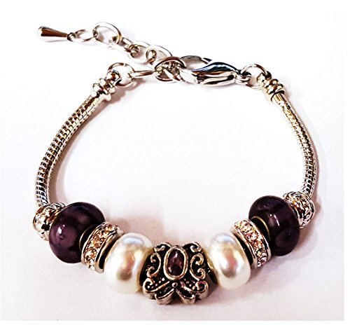 bella-perlina-collection-pandora-style-bracelet-9-snake-chain-interchangeable-beads-purple-butterfly