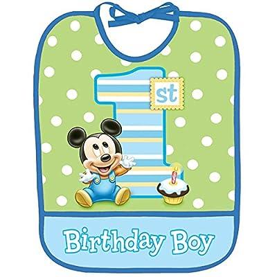 Disney Mickey's 1st Birthday Bib