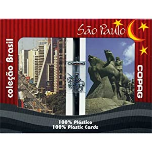 Copag Brazil SAO Paulo 100% Plastic Cards - 2 Decks