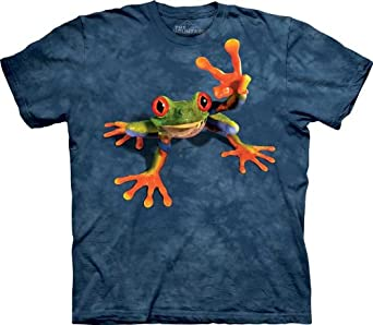Victory Frog T-Shirt 100% Cotton Short Sleeve Shirt Small