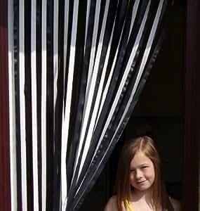 Caravan/RV Door Curtain,Bug Blind,Fly Blind,Strip Blind-BLACK & WHITE