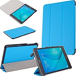 Fulland Samsung Galaxy Tab A 8.0 Smart Shell Case - Ultra Slim Lightweight Stand Cover with Auto Sleep/Wake Feature for Samsung Galaxy Tab A 8-Inch Tablet SM-T350 -Light Blue