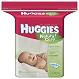 HUGGIES Natural Care Baby Wipes, Fragrance-Free, Refill(Pack of 3)
