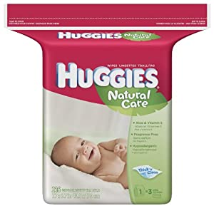 Huggies Natural Care Baby Wipes Fragrance Free Refill Pack