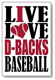 Live Love I Heart D-Backs Baseball lined journal - any occasion gift idea for Arizona D-Backs fans from WriteDrawDesign.com