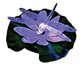 LED Lighted Lily Pad Pond Light - Floating Dragonfly Color Changing