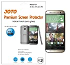 JOTO - All New HTC One M8 Smartphone Screen Protector Film Anti Glare, Anti Fingerprint (Matte Finish) with Lifetime Replacement Warranty (3 Pack)