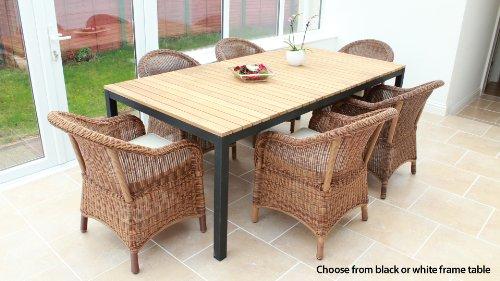 Cozy Bay® Sicilia 6-Seater Rattan Furniture Java Honey Garden Conservatory Dining Set