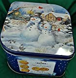 Kelsen Original Danish Butter Cookies 5 Pounds (2.27 Kg) Gift Tin Biscuits with Snowman Art Work