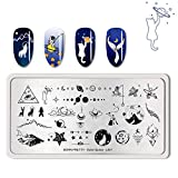 Summer Fruit Nail Art Stamping Template Tropical Punch Pattern Rectangle Image Plate Stamping Polish Needed BP-O-L001-1 (Color: BP-O-L001-1)