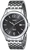 Timex Men's T2N848 Elevated Classics Dress Bronze Dial Silver-Tone Expansion Band Watch