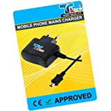 TK9K[TM] - MOBILE PHONE MAINS HOUSE BATTERY CHARGER FOR MINI USB C528 ONLY FOR ITT easyuse phone UK Spec 3 Pin Charger for NI-MH, LI-ION & LI-POL Batteries. - Rapid charge. - 12 Months Warranty - CE approved - Lightweight - Multi input voltage capability