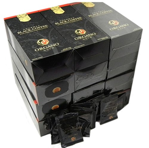 12 Boxes of Organo Gold Ganoderma - Black Coffee (30 sachets per box) + 10 extra Sachets