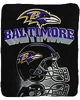 "Baltimore Ravens ""Shadow"" Lightweight Fleece Blanket (Measures Approx. 50"" x 60"")"